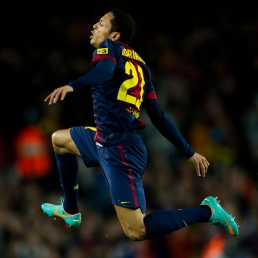 Barcelona defender Adriano is six weeks